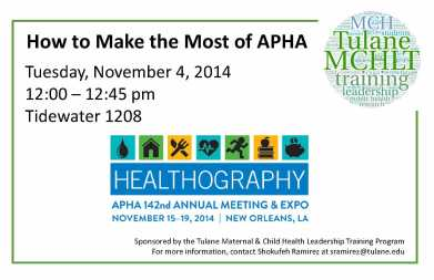 How to make most of APHA 2014 flyer