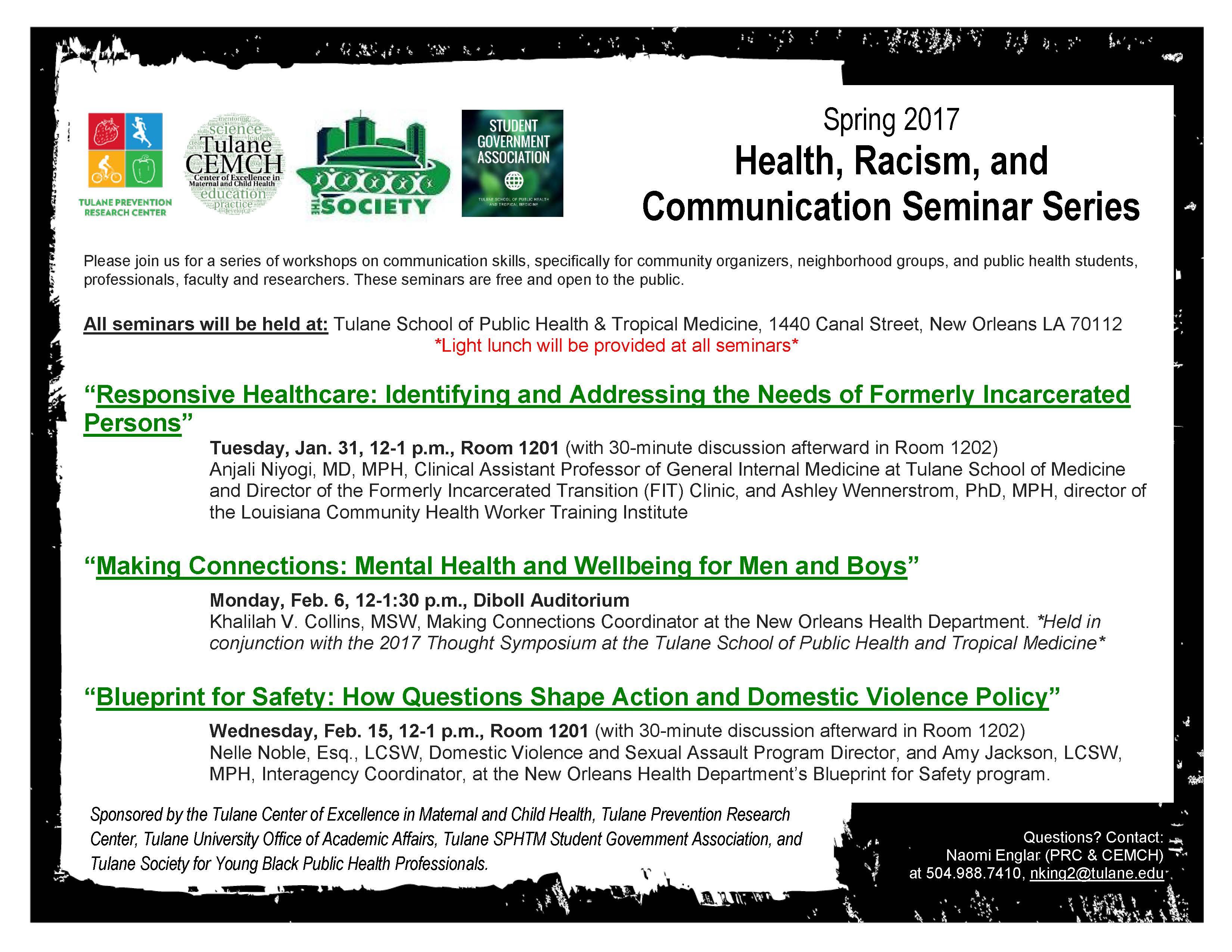 Spring 2017 health racism and communication seminar series spring 2017 health racism and communication seminar series malvernweather Choice Image