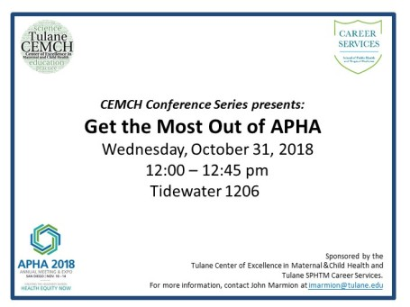 Get the Most Out of APHA 2018 flyer-elevator